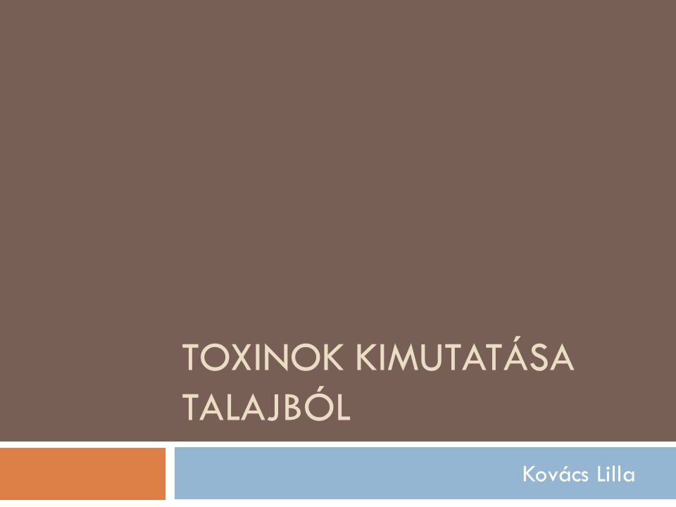 toxinok meghatározása)