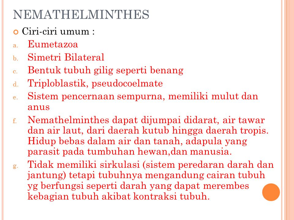Les nemathelminthes ppt - gajaliget.hu