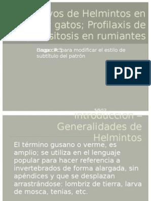helmintox profilaxis