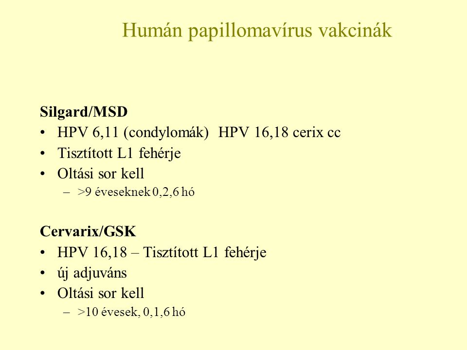 vírusellenes szerek papillómákra