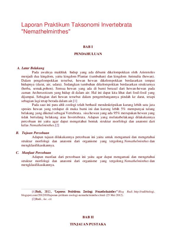 nemathelminthes filum manfaat