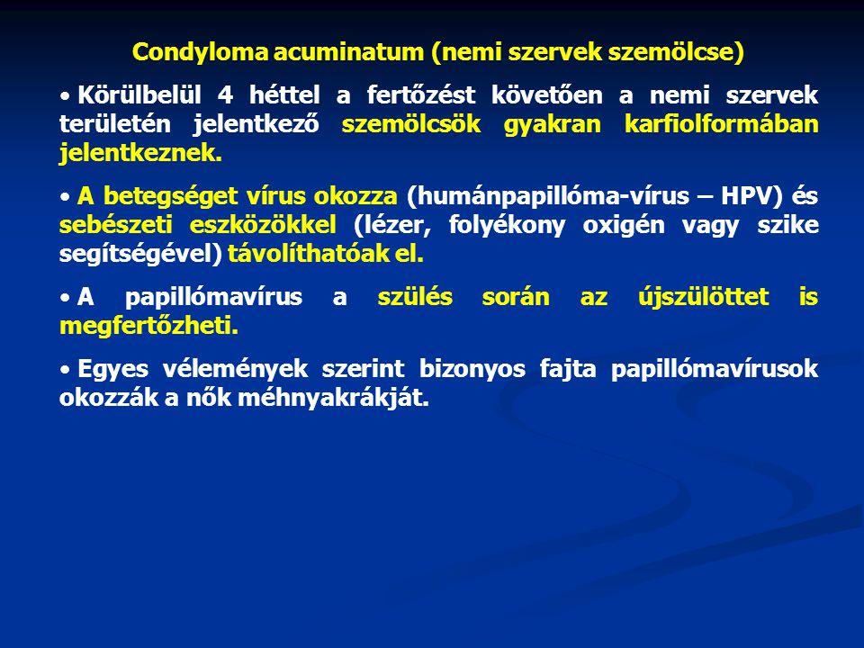 vírusellenes szerek papillómákra)