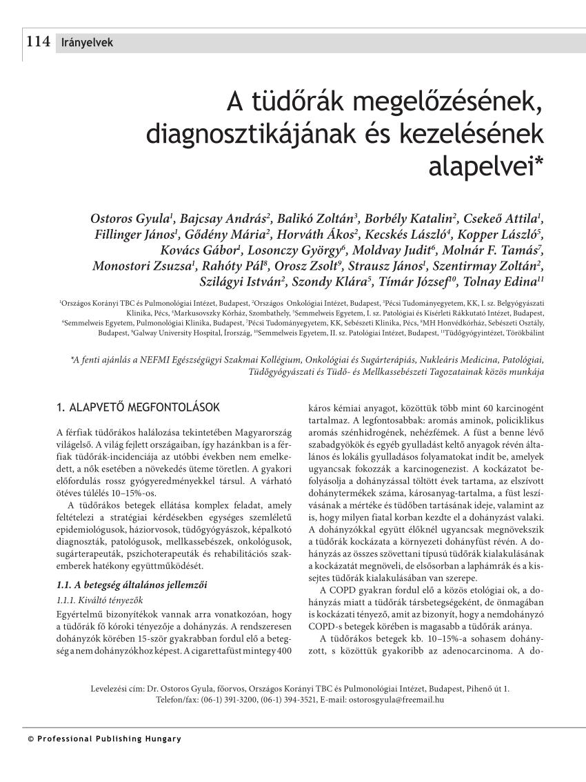 vastagbélrák-irányelvek 2020)