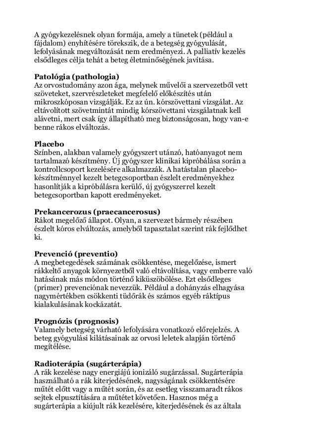 gége papillomatosis patológiájának körvonalai)