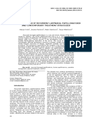 mikrodebrider gége papillomatosis)